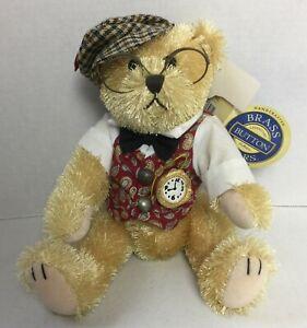 Brass Button Bears Legendary Collection BENTLEY BEAR OF WEALTH Plush 2004 #20J
