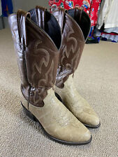 Dan Post Wildebeest Leather Cowboy Boots Western Brown Shoes Stitching