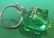 MAHOPAC NATIONAL BANK green Piggy BANK plastic figure keyring key chain keychain