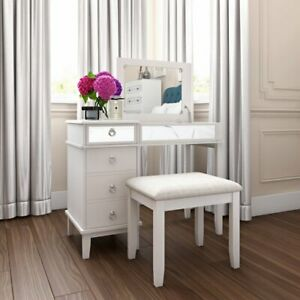 Kemmerer Vanity Set with Mirror And Stool