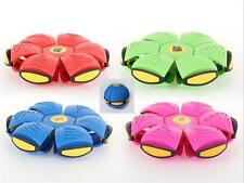 Novità volanti UFO piatto LANCIA DISCO palla con luce giocattolo PHLAT SOFT BAMBINI ALL'APERTO