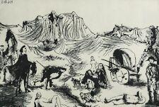 Pablo Picasso Spanish 1881-1973 Etching Variation on Don Quixote 1970