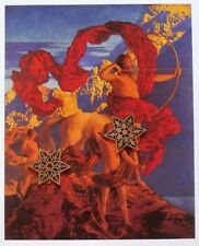 """Vtg Art Print Maxfield Parrish Poster Collier's + 10.5"""" x 16"""" See Variety"""
