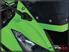 Strada 7 Racing Pare-Brise Vis Kit carénage 8 PIECES Honda CBR500R 13-2014 Noir
