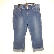 45a8be84f4a C2 Angels Jeans Women Capri Cropped Jeans Plus Size 14 Blue Denim