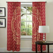 Cotton Top Quality Red Gold Wall Hanging Door Window Curtain Tapestry Indian Art