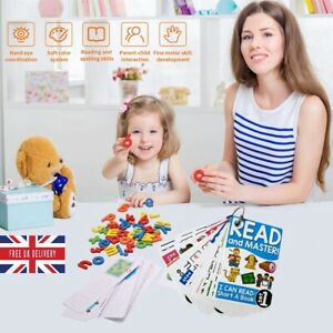 Montessori Spelling Game for Children, Learning Puzzle and Flash Reading Cards