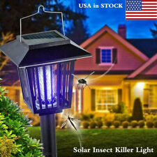 Solar Fly Bug Zapper Mosquito Insect Killer Led Light Trap Pest Control Lamp Hot