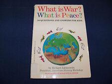 What Is War? by Richard Rabinowitz (1991, Paperback)