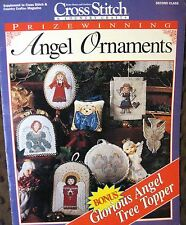 Counted Cross Stitch Patterns BHG Angel Christmas Ornaments and Tree Topper 1995
