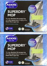 2 x Addis Superdry Anti Bacterial Cleaning Sponge Mop Refill Replacement Head