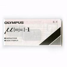 Olympus mju-1 instructions