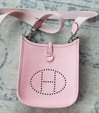 Authentic Hermes TPM Evelyne Rose Sakura Baby Pink crossbody Bag Small PHW