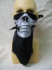 Biker Skeleton Skull Half Face Mask Bandana Reaper Day of Dead Old West Outlaw