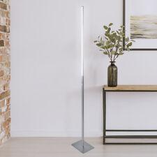 LED Stehleuchte Stehlampe Design Licht Deckenfluter gerade Modern Edelstahl ST27