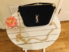 "a81dbd0a52 Yves Saint Laurent Cosmetics Bag with Removable 46"" Gold Chain 💋💄😘"