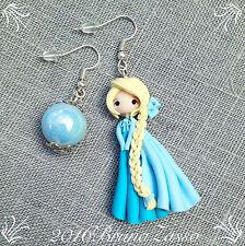 Orecchini Elsa ~ Cute Frozen Disney Earrings Fimo Polymer Clay Kawaii Princess
