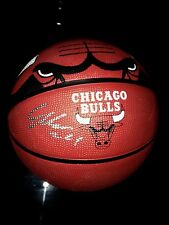 Lauri Markkanen Chicago Bulls Autographed Signed Logo Basketball JSA