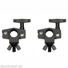 2 x RHINO MINI CLAMP FOR 20mm LIGHTING BAR for LIGHTING EFFECTS CANS LASER