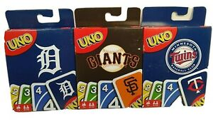 Major League Baseball  UNO  Card Games  Choice of Teams