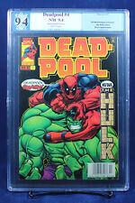 Deadpool #4 (1997 Marvel) PGX (not CGC) 9.4 NM Near Mint - Deadpool, Smash!!!