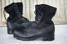 Black Leather Military Jungle Boots Panama Sole Tactical Combat Army 6R