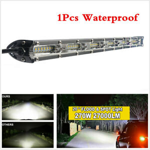 Slim 20inch 270W LED Work Light Bar Spot Flood Combo For Truck Pickup Offroad