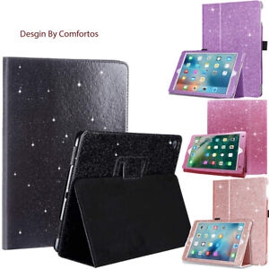 Apple iPad Auto Sleep Folio Case Glitter PU Leather Stand Cover For All Models