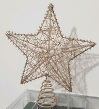 Christmas Gold Wire Tree Topper 23cm NEW