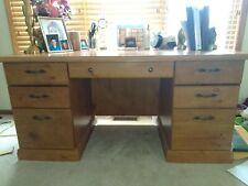 Office Desk With Draw Storage Home Organizer Desktop Rustic Writers Vintage
