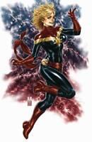 Captain Marvel #1 (RARE Mark Brooks Virgin Variant Cover, Marvel Comics)