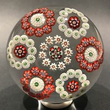 Huge Antique Baccarat Art Glass Paperweight Complex Millefiori Rondelle Design