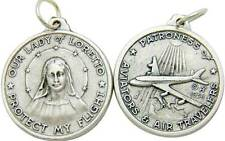 """MRT One Our Lady Of Loretto Air Travel Protection Catholic Medal 1"""" Gift Italy"""