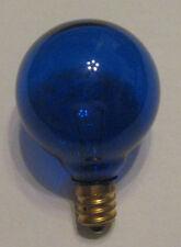 1 Transparent Blue Marquee/Sign/Amusement Park/Party/Patio Light Bulb E12 Base