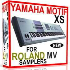 YAMAHA MOTIF XS SAMPLES SOUNDS ROLAND MV8800 MV8000 MV 8800 MV 8000 7 DVD'S