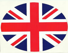 UK United Kingdom Union Jack Flag Oval External Car Bumper Sticker Decal
