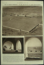 WWII Alamein Cemetery Memorial Before Official Opening 1954 1 Page Photo Article