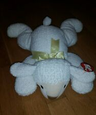 "New Ty Pillow Pals Baba Lamb Plush 1996 Yellow Ribbon 14""   # Q7"