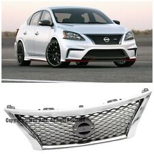 For 13-15 Nissan Sentra JDM NIS Style Front Conversion Bumper Hood Upper Grille
