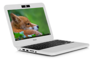 "11.6"" Haier White Chromebook Laptop Chrome OS 2GB RAM 16GB SSD HDMI Webcam USB"