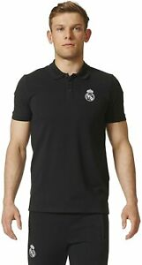 REAL MADRID SHIRT POLO SHIRT BLACK ADIDAS MEDIUM MENS 100% OFFICIAL PRODUCT