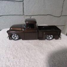 1955 chevy stepside pickup,jada,1:24 scale die cast,brown