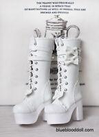 1/3 60cm bjd SD13 SD16 girl doll white platform long boots dollfie dream luts