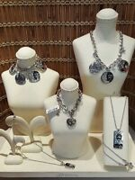 Brighton Fashionista Collection:3 Necklace & 2 Bracelets, Retail $266 Silver NWT