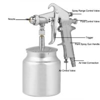 Gravity / Suction Feeding Mode Air Paint Spray Gun Pneumatic Tool Hot