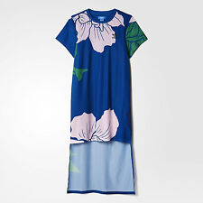 nwt~Adidas Originals FLORAL ENGRAVING LONG DRESS Top Shirt supergirl~Women sz XS