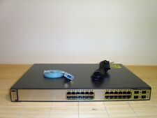 Cisco Catalyst WS-C3750G-24TS-S1U 24x + 4 SFP Port Gigabit L3 Switch w. EMI IOS