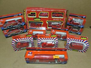 Lot Solido S Pompiers Saviem, Express, Dodge, Mercedes, Sides, Mack, Marmon ...