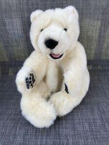 Folkmanis Sitting Polar Bear Hand Puppet Beautiful Plush Suede Paws