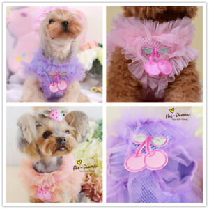 Princess Dog Harness and Leash Small Cat Pet Vest Walking Safety Control XS S M